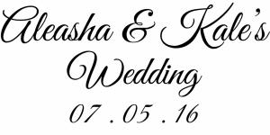 Aleasha wedding