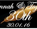Hannah & Tegans 30th