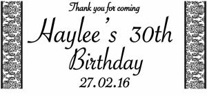 Haylees 30th